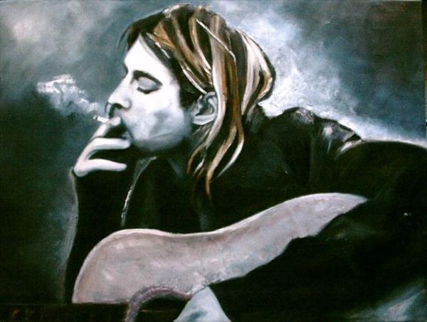 Kurt Cobain by Qwiepke